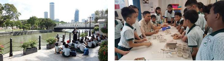 casuarina primary students learning journey singapore river sculpture walk arts
